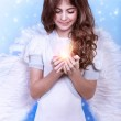 Cute Christmas angel — Stock Photo