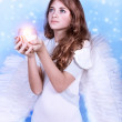 Christmas wish of an angel — Stock Photo