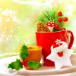 Stock Photo: Christmas utensil set