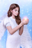 Angel girl — Stockfoto