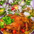 Tasty oven baked chicken — Stock Photo #36796613