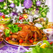 Traditional Christmas table — Stock Photo