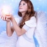 Beautiful angel praying — Stock Photo