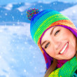 Happy girl in winter park — Stock Photo #36797221