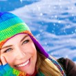 Happy woman in wintertime — Stock Photo