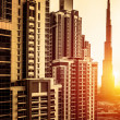 Dubai downtown in sunset — Stock Photo #36797477