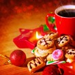 Christmas sweets still life — Foto Stock