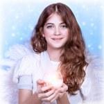 Sweet angel girl — Stock Photo