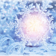 Stock Photo: Beautiful shiny snowflake