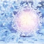 Beautiful shiny snowflake — Stock Photo
