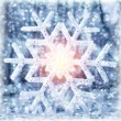Beautiful shiny snowflake — Stock Photo