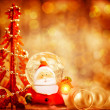 Cute Santa border — Stock Photo #37265813