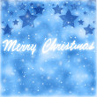 Merry Christmas greeting card border — Stock Photo
