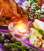 Christmastime banquet — Stock Photo
