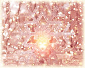 Pink shiny Christmastime decor — Stock Photo