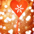 Stock Photo: Heart shaped decor for Christmas