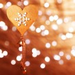 Stock Photo: Christmas heart shaped decoration