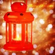 Beautiful Christmas lantern — Stok fotoğraf