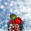 Christmastime still life — Stockfoto