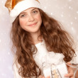 Little Santa helper — Stock Photo