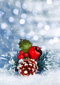 Christmastime still life — Stock Photo