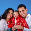 Happy young family — Stockfoto