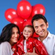 Cheerful young family — Stock Photo