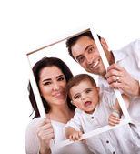 Retrato de família feliz — Foto Stock