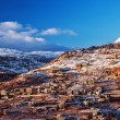Stock Photo: Mountainous town in winter