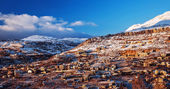 Mountainous town in winter — Stock Photo
