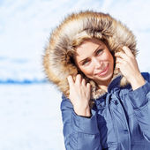 Fashionable wintertime style — Stock Photo