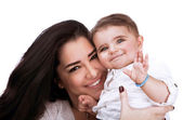 Pretty woman with daughter — Stock Photo