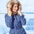 Stylish woman in winter park — Stock Photo #39404643