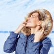 Woman enjoying winter nature — Stock Photo #39404683
