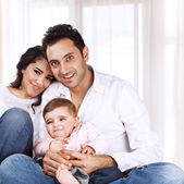 Happy family at home — Stock Photo