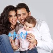 Happy healthy family — Stock Photo