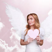 Sweet cupid girl — Stock Photo