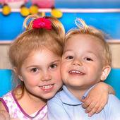 Two happy child — Stock Photo