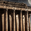Baalbeck castle in the night — Stock Photo