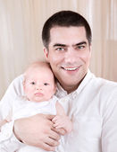 Happy father with baby — Stock Photo