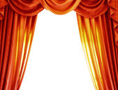 Luxury orange curtains — Stock Photo