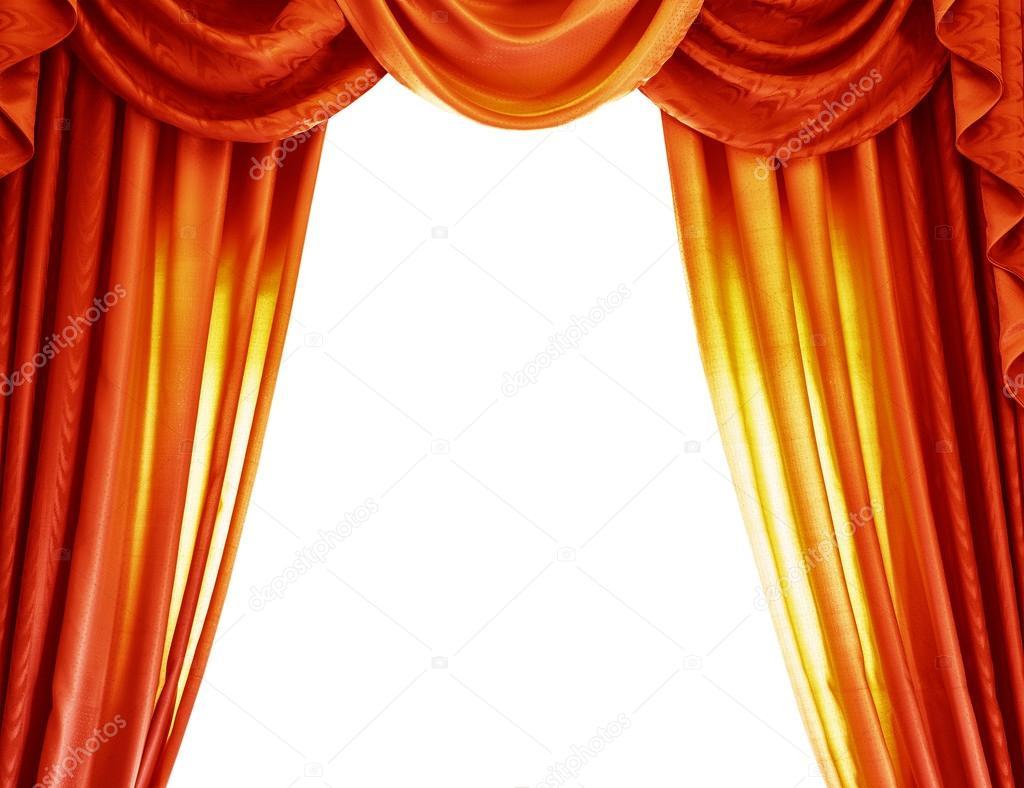 Tende di lusso arancio foto stock anna om 42588417 for Aprire il concetto di soggiorno