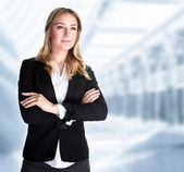 Serious business woman — Stock Photo