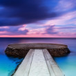 Beautiful pier in sunset — Stock Photo #43550433