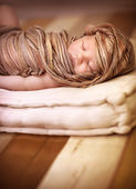 Cute baby sleeping — Stock Photo