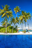 Luxury beach resort on an island — Stock Photo