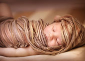 Sweet baby girl asleep — Stock Photo