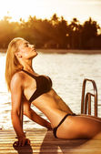 Summertime photo shoot — Stock Photo