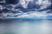 Overcast weather over sea — Stock Photo
