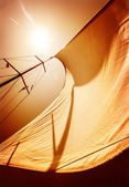Sail fluttering in the wind — Stock Photo